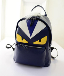 Multicolor shoulder bag online shopping - Fashion Backpack Famous Designer Luxury Women Multicolor Unisex Backpack Casual Student Teenagers Moster Cute Feather Shoulder Bags