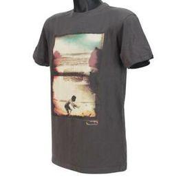 Green T Shirt NZ - Men GREEN ROOM T-shirt Size M Medium Dark Grey Slim Fit Mens Cotton Surf Tee