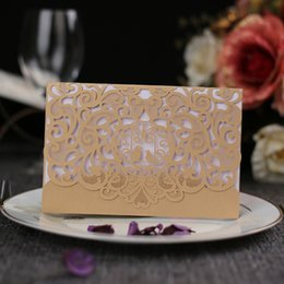 Wholesale 10PCS Pack Hollowed out Innovative Wedding Engagement Invitation Card High end Business Festival Birthday Party Invitation Card