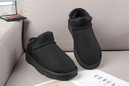 $enCountryForm.capitalKeyWord Australia - HOT SALE New Fashion classic low winter Snow boots real leather Bailey Bowknot women's bailey bow snow boots men sports outdoor sneaker 09