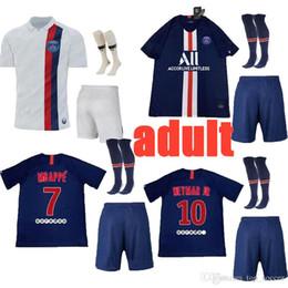 Football Uniforms Australia - new 2019 2020 PARIS adult soccer jersey 19 20 MBAPPE NEYMARJR CAVANI DANI AES DI MARIA jerseys top quality uniforms football shirt