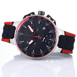 bike chronograph 2020 - Wholesale T-Bike T111 T Bike Red Rubber Teams Special Edition Chronograph Quartz Deployment Clasp Men Watch Wristwatches