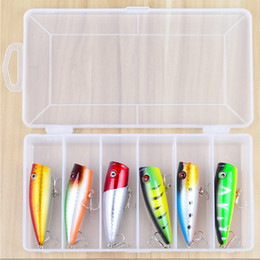 Bass Fishing Lures Australia - New Arrival 6Pcs Set 65mm 9.33g Hard fishing lure Popper Lure Fishing Hook Topwater Floating Hard Artificial Bass Baits