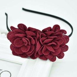 Gum Hair Australia - 2018 New Children's flower headband hollow solid color accessories gum for hair hair band girls headbands