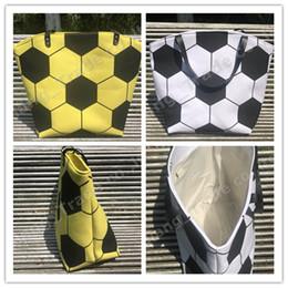 Designer geometric tote bag online shopping - Large Capacity Sports Handbag Designer Soccer Football Print Storage Bags Women Canvas One Shoulder Spherical Bag Fashion Tote A52004