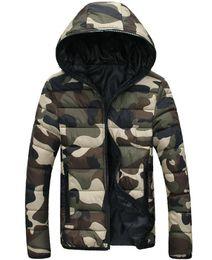 Vente en gros Veste D'hiver Hommes Camouflage Couple Parka Hommes Manteau Nouvelle Marque Vêtements Hommes Veste D'hiver Zipper Doudoune Homme Hiver Marque