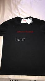 Wholesale New Summer Letter Print T Shirt Men Tshirt Cotton Blend Top Tees Short Sleeve Casual Shirt Breathable T Shirts