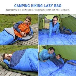 Camping en plein air Sac de couchage Enveloppe chaude Sacs de couchage d'hiver à capuchon Sac de couchage pour adulte