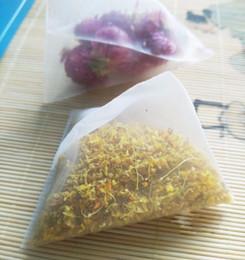 Empty tEa bags hEat sEal online shopping - Nylon Tea Filter Bag Transparent Bags Empty Pyramid Tea Bag Heat Sealed