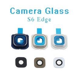 $enCountryForm.capitalKeyWord NZ - 10Pcs For Samsung Galaxy S6 edge G925 G925F Original Back Rear Camera Lens Glass with Adhesive (Glass Only)