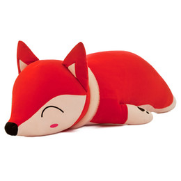 Large Toy Dolls UK - 2019 New creative party fox doll plush toy Stuffed Animals software sleeping pillow large gift girl birthday gift