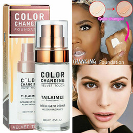 makeup factory prices Canada - Factory Price 30ml TLM Colour Changing Foundation Liquid Base Makeup Change To Your Skin