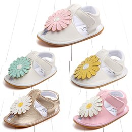 $enCountryForm.capitalKeyWord Australia - Kids Designer Sandals Summer Sunflower Baby Girl Sandals Shoes Soft soled Anti Slip For Children Kids Toddler Newborn walking shoes
