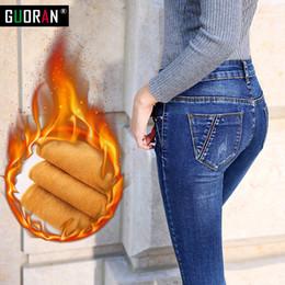 $enCountryForm.capitalKeyWord Australia - Jeans Winter Woman Warm Female Pencil Pants Ladies Plus Size Slim Feet Jeans Long Trousers Women Jeans Femme Plus Size