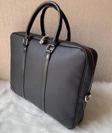 Großhandel Handgestrickte Markendesigner Aktenkoffer Neuankömmling hochwertige Business-Taschen für Männer echtes Leder Business-Notebook-Taschen
