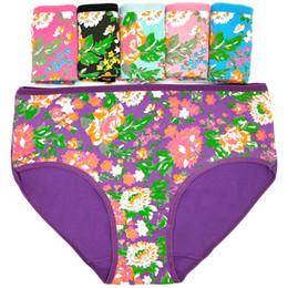 $enCountryForm.capitalKeyWord NZ - Flower printed cotton lady's underwear Full cotton large size ladies' mummy panties