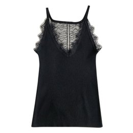 $enCountryForm.capitalKeyWord NZ - Women Sexy Basic Lace Camisole Summer Knitted Tank Top Female Adjustable Strap Camisoles Female Camis High Elasticity Tops