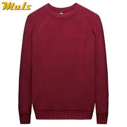 MuLS 2019 Heavy-Knit Sweater Men Pullover Winter Warm Thicken Sweater Women  Jumpers Male Female Cotton Crew-Neck knitwear 3XL a45a89199