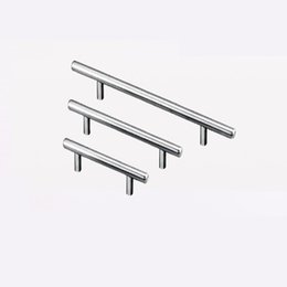 $enCountryForm.capitalKeyWord Australia - T Type Handles For Cupboard Door Drawer Wardrobe Shoe Cabinet Pulls Stainless Steel 3 Size Universal