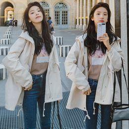 $enCountryForm.capitalKeyWord Australia - Casual Loose Windbreaker Jacket Women 2019 Autumn New Korean Solid Hooded Jackets Pockets Oversized Coat Hoodie