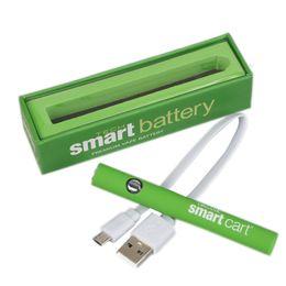 Ingrosso 2019 Hot SmartCart Batteria 380 mAh Preriscaldare Vape Penna a Tensione Variabile Batteria Smart Carts Bottom Ricarica Vaporizzare Per Olio Spessore dc022