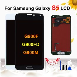 samsung galaxy s5 touch screen digitizer Australia - For Samsung Galaxy S5 i9600 G900 G900F G900A Phone LCD Display with Touch Screen Digitizer Assembly For Galaxy s5 lcd display
