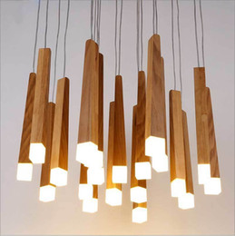 $enCountryForm.capitalKeyWord Australia - Nordic Style Wooden Stick Decoration Log Country Kitchen Modern Natural Wood Pipe Pendant Lights LED Loft Decor Hanging Lamp
