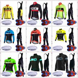 mens long sleeve winter cycling jerseys NZ - ALE team Outdoor bicycle Riding Bib pants sets Cycling long Sleeves jersey Winter Thermal Fleece Mens sports clothing free delivery Q82121