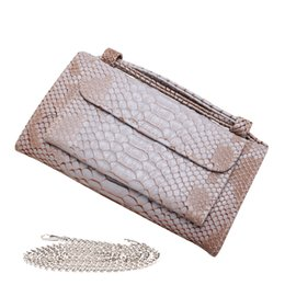 $enCountryForm.capitalKeyWord NZ - Women Snake Pattern Genuine Cow Leather Day Clutch Designer Fashion Brand Western Style Messenger Shoulder Bags Chain Bag