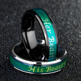 $enCountryForm.capitalKeyWord NZ - Fine Jewelry Mood Ring Temperature Changing Color Feeling Ring Her Beast His Beaty couple rings luxury designer jewelry women rings dropship
