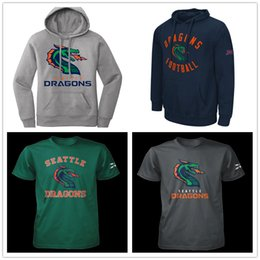 dragon t shirt xxl Canada - Seattle Dragons XFL Football Jersey Pullover Hoodie mens Sweatshirt Jonathan Alston Parker Baldwin Kirk Barron Isaiah Battle T-shirts Print