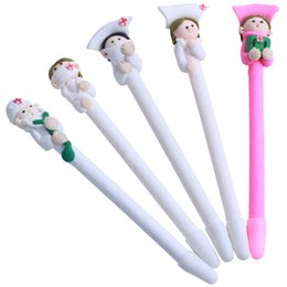 hospital cartoons NZ - 12pcs Cartoon Doctor Nurse Style Ballpoint Pens Nurse Gift Christmas Gift For School Family Office Hospital Kids