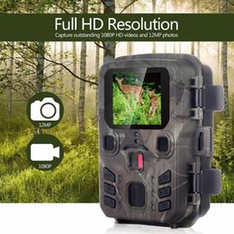 pir sensor camera NZ - 2020 Mini Trail Camera Hunting Game 12MP 1080P Outdoor Wildlife Scouting Hunting Camera With PIR Sensor 0.45s Fast Trigger