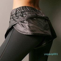 sexy yoga pants for women Canada - False two-piece Women Sport Pants For Yoga Running Fitness Sexy Compression Leggings Female Tracksuit Sports Tights Trousers