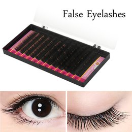 00e81a1321a Mink Sizes False Eyelash Extensions Black BCD Curls Individual Fake Lash  Semi Permanent Extensions 1 Tray Lot