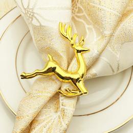 Venta al por mayor de Deerlet Anillos de servilleta para boda Servilletero Western Dinner Toalla Anillo Hotel Mesa Decoración servilleta titular KKA6863