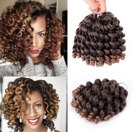hottest curling wand NZ - Hot Selling! 3pack 8inch 2X jamaican bounce kinky twist hair crochet braids extensions 20Strands pack wand curl crochet Braiding hair