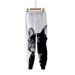 Cartoon 3d Sweatpants UK - 3d Joggers Pant Fashion Cartoon Cute French Bulldog Printed Casual Men Women Long Loose Trousers 3D Fitness Pants Sweatpants 4XL