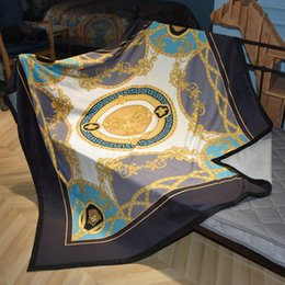 $enCountryForm.capitalKeyWord Australia - Luxury designer brand comfortable bedding and outdoor blanket creative patterns double layer thicken blanket shawl Christmas new Year gift