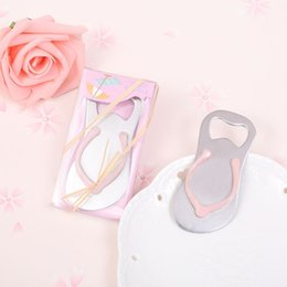 $enCountryForm.capitalKeyWord Australia - Beach Wedding Gifts Pink Flip Flops bottle opener Wholesale For wedding favors party favors DHL Free shipping 100pcs