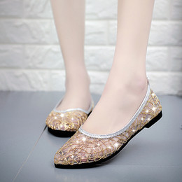 Flat Silver Ballet Women Shoes NZ - Woman Wedding Bridal Flats White Ivory  Closed Toe Comfort bbe2d760ebbf