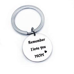 charms thanks NZ - Personalized Keychains Gifts Remember I Love You Mom Keyring Stainless Steel Charms Family Jewelry Thanks Giving Day Gift