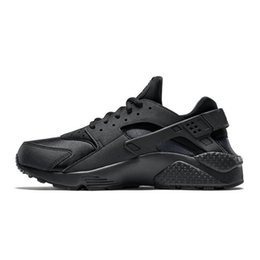 black running shoes for women NZ - I Huarache Running shoes for Men Women Sports Shoes Triple Black White Gold Huraches 1.0 4.0 Womens Mens huaraches Trainer Sneakers