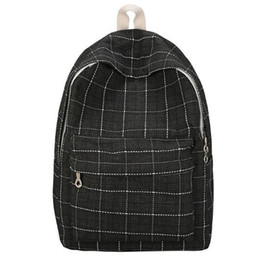 College wind baCkpaCks online shopping - Korean Fashion Outdoor Backpack Female College Wind Student Bag Retro Plaid Backpack