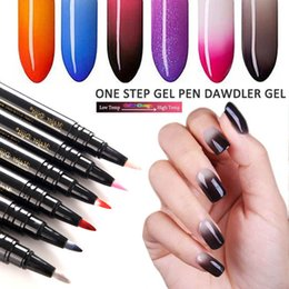Discount color change pen - Major Dijit One Step Gel Pen Dawdler Gel Temperature Color Change LED UV Lamp Lacquer Nail Art