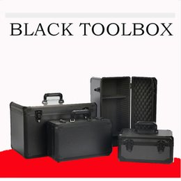 Hand-held aluminium alloy box With lock Installation and maintenance Vehicle Inclusion Toolbox Multifunctional for Household Use on Sale