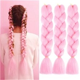 jumbo braids Synthetic Hair Extension pure color 24inch for Fashion Women