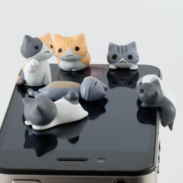 cell phone plugs caps NZ - 3.5mm Cheese Cat Anti Dust Plugy Cute Cartoon Design Cell Phone Ear Caps Plug Cheese Ear Anti-Dust Earphone Plug for IPhone Samsung