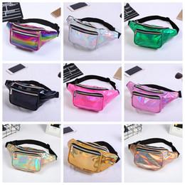 Опт 11styles девушки Лазерная талия сумка красочные пляж путешествия пакет Fanny pack сумочка девушки пояс кошелек открытый голографические косметические сумки FFA1419