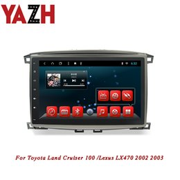 Discount toyota touch screen car YAZH 10.1 Inch Android Auto Radio Stereo For Toyota Land Cruiser 100  Lexus LX470 2002 2003 Head Unit Multimedia No car
